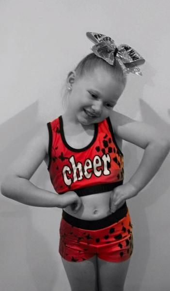 Blinged Pink animal print cheerleading crop and short training wear size youth 6-14 adult small to large