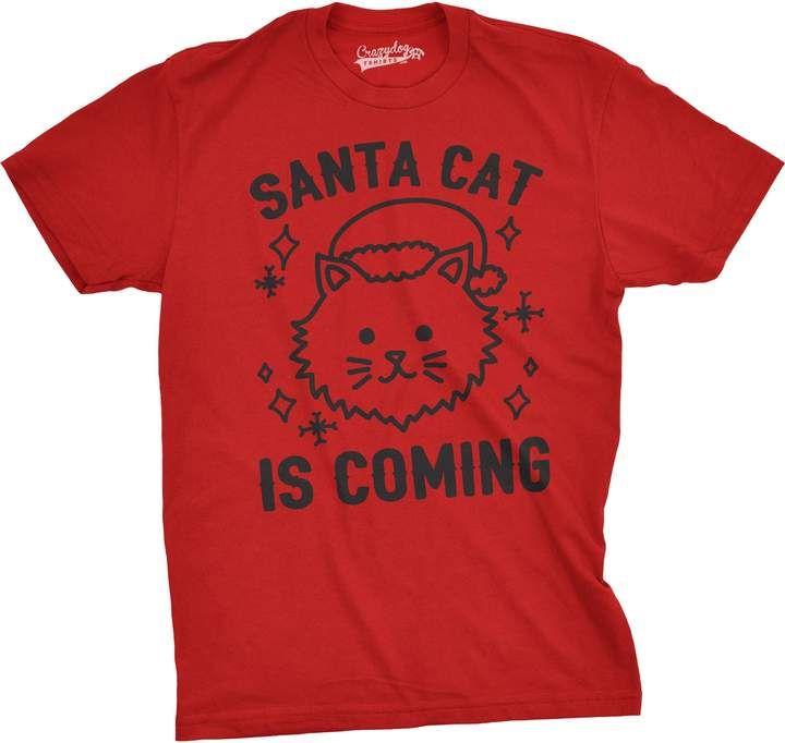 Santa Cat is Coming Men s Tshirt in 2018  6426bfda193