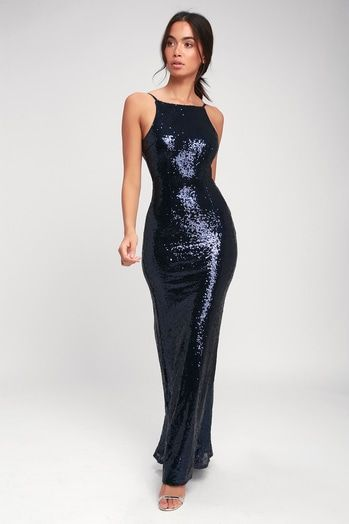 868d10f1a0e3 CHIC CELEBRATION NAVY BLUE SEQUIN MAXI DRESS | Clothes 2 | Pinterest ...
