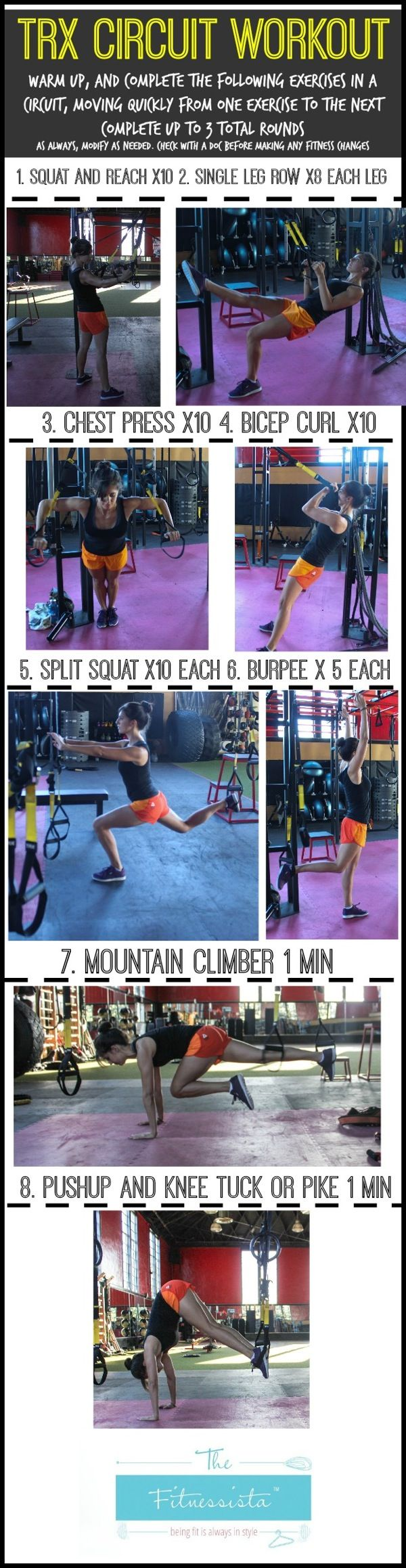 Your Guide to a Complete TRX Circuit Workout Looks very fun I need to try this.