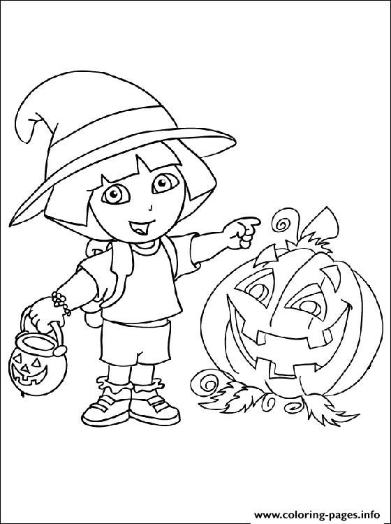 print dora halloween s for kidsa82f coloring pages