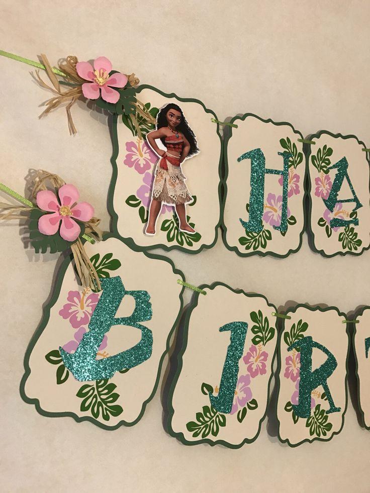 Moana Banner, Moana Party, Moana Birthday, Moana Party Wall Decoration, Moana Decorations 3D. by AdrianaOrtizDesigns on Etsy https://www.etsy.com/listing/493537690/moana-banner-moana-party-moana-birthday