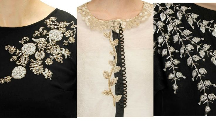 Very Beautiful embroidery designs for kurti neck / dresses/ blouse neck
