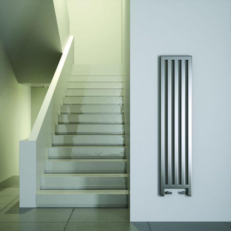 Электрический радиатор / закаленное стекло облицовочный / современный / вертикальный обновка по F.Lucarelli & B.Rapisarda SCIROCCO H