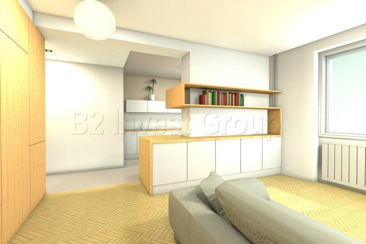Multipurpose furniture between the kitchen and livingroom