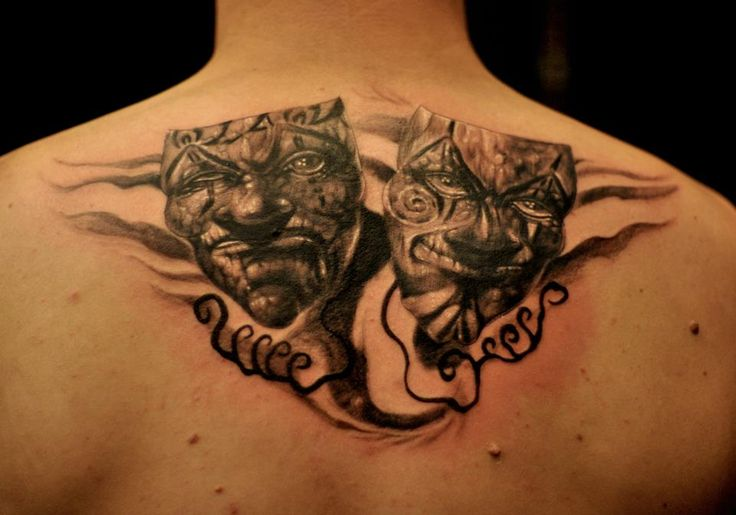 chronic ink tattoos toronto tattoo theatre masks by csaba tattoos piercings pinterest. Black Bedroom Furniture Sets. Home Design Ideas
