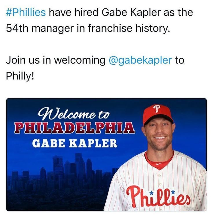 """My dreams have come true - we finally have a total hunk in one of our Franchises! Welcome to Philadelphia @gabekapler aka """"The Body"""" !! #philadelphia #phillies #baseball #mygodhescute #mancrushmonday"""