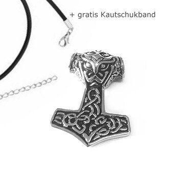 Kleiner Thors Hammer Anhänger aus Edelstahl #Bikerschmuck #Thorshammer #Männerschmuck #Edelstahlschmuck