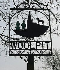 The legend of the green children of Woolpit concerns two children of unusual skin colour who reportedly appeared in the village of Woolpit in Suffolk, England, some time in the 12th century, perhaps during the reign of King Stephen. The children, brother and sister, were of generally normal appearance except for the green colour of their skin. They spoke in an unknown language, and the only food they would eat was beans. Eventually they learned to eat other food and lost their