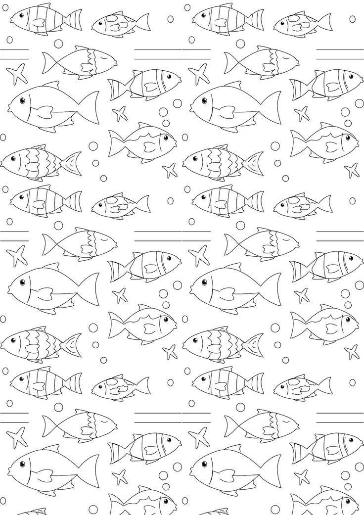 FREE printable nautical coloring page | fish coloring #coloringpage #blackandwhite