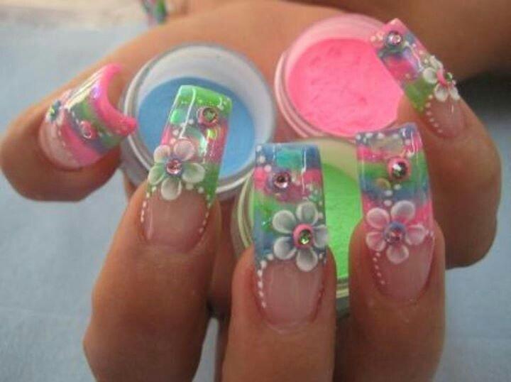 Nails Designs Uñas Diseños, De Uñas, Uñas Decoradas, Acrilico Decoradas, Unas Acrilico, Diferentes Buscar, Unas Buscar, Colores Diferentes, Decoracion