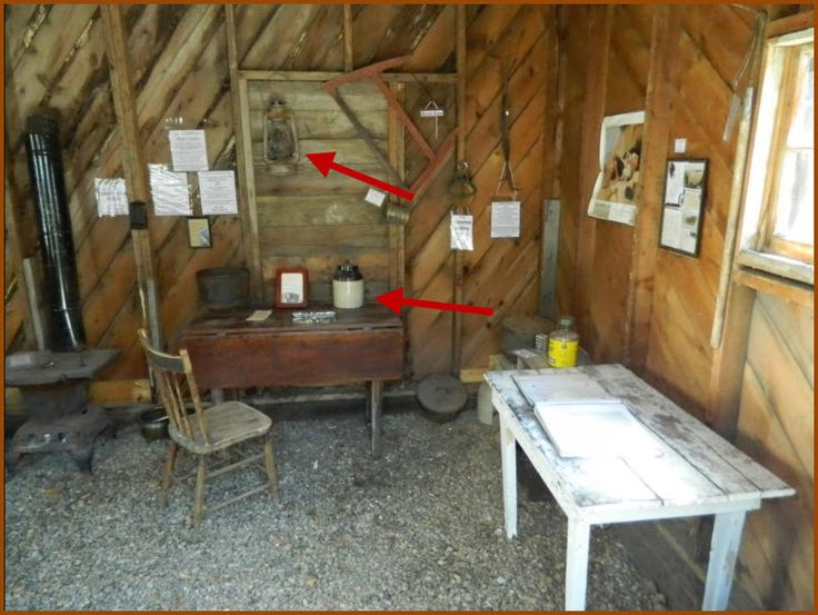 This could be what the shanty looked like inside. Note there's the Dietz lantern they used to stay warm. Also, that jug of moonshine would've helped except Jenna only drinks blackberry brandy.