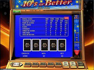 10's or better videopoker | $3,200 free | Casino.com