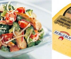 Salade de brocoli croquant au poulet et au fromage Louis Cyr