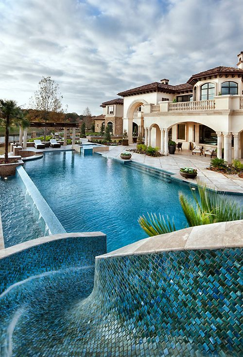 The 25 Most Epic Houses You'll See This Year! - Awesome glass tile water-slide!!!