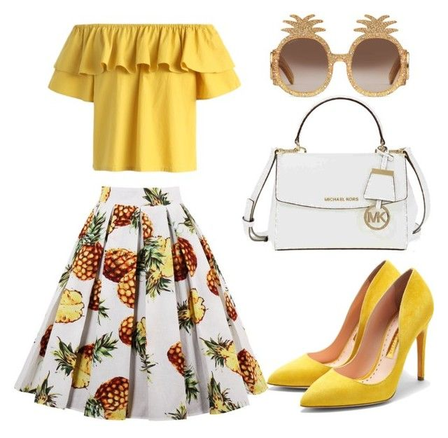 """""""Untitled #189"""" by zsofi-szibilla on Polyvore featuring Chicwish, Rupert Sanderson, Michael Kors and Gucci"""