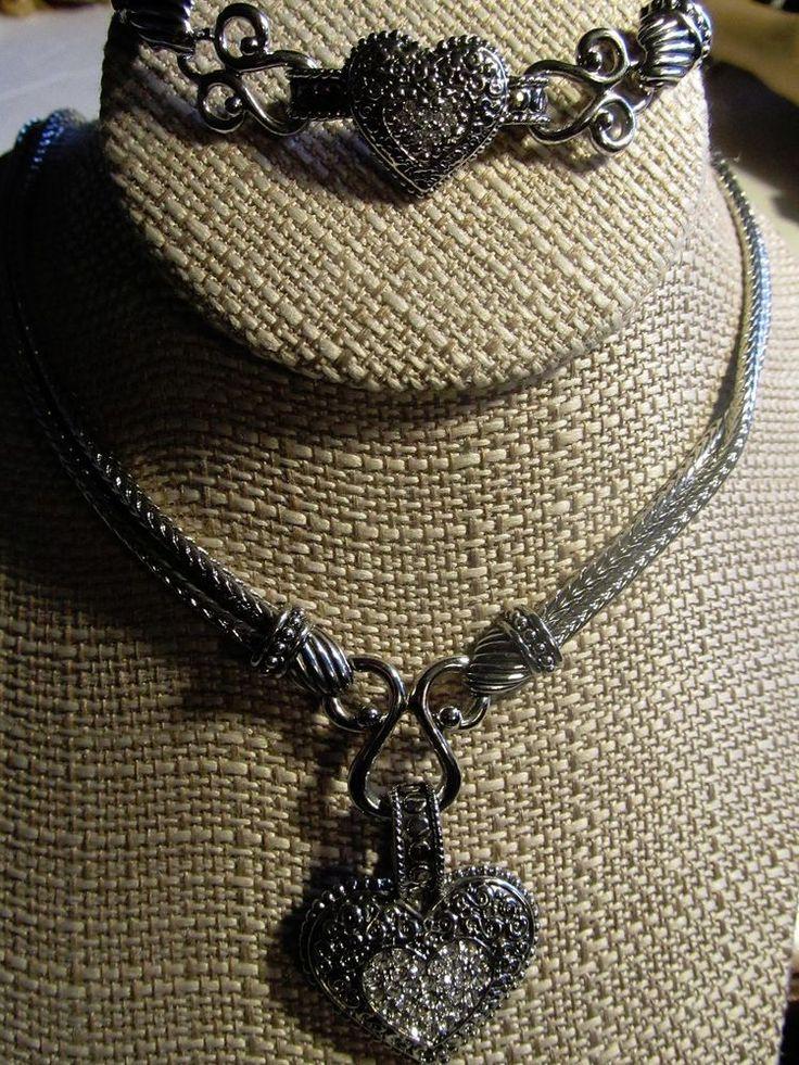 Lia Sophia Love Dust Cut Crystal Heart Pendant Necklace & Bracelet Set-GIFT BOX #LiaSophia #pendant