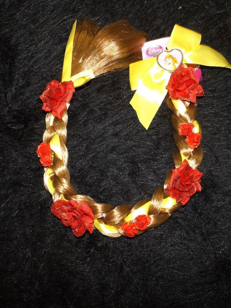 Beauty and the Beast Belle braid new Disney Princess hair insert easy in roses #DisneyPrincess #extensionbarrette