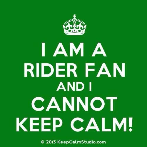 I am a Rider fan and I cannot keep calm!!!