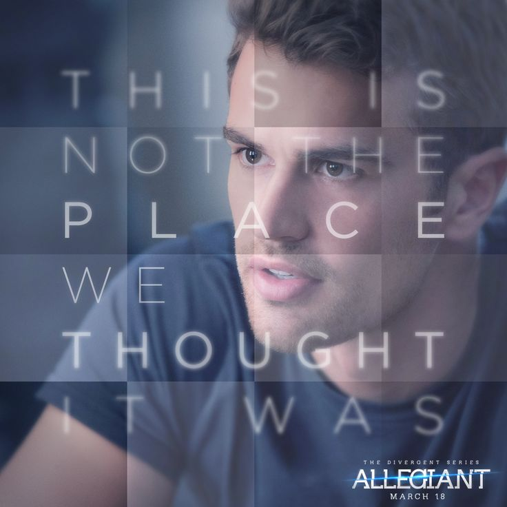 Some things aren't always what they appear... #Allegiant -| all i can say is that Tobias looks really nice here