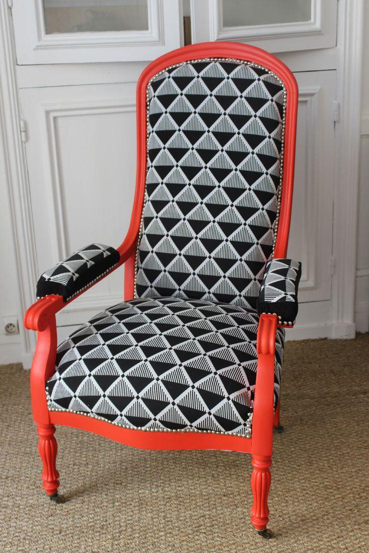 Fauteuil Voltaire rénové entièrement par Design Après tout... En vente chez ODIVI à Morlaix