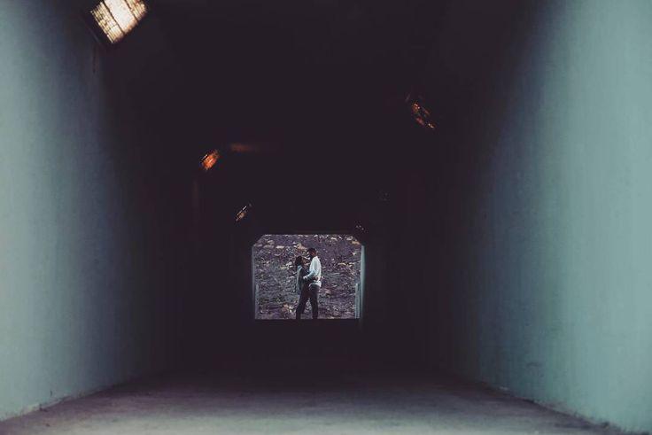 Tunnel vision. Seven sleeps till their big day.  #love #streetphotography #wedding #preshoot #tunnelvision #symmetry