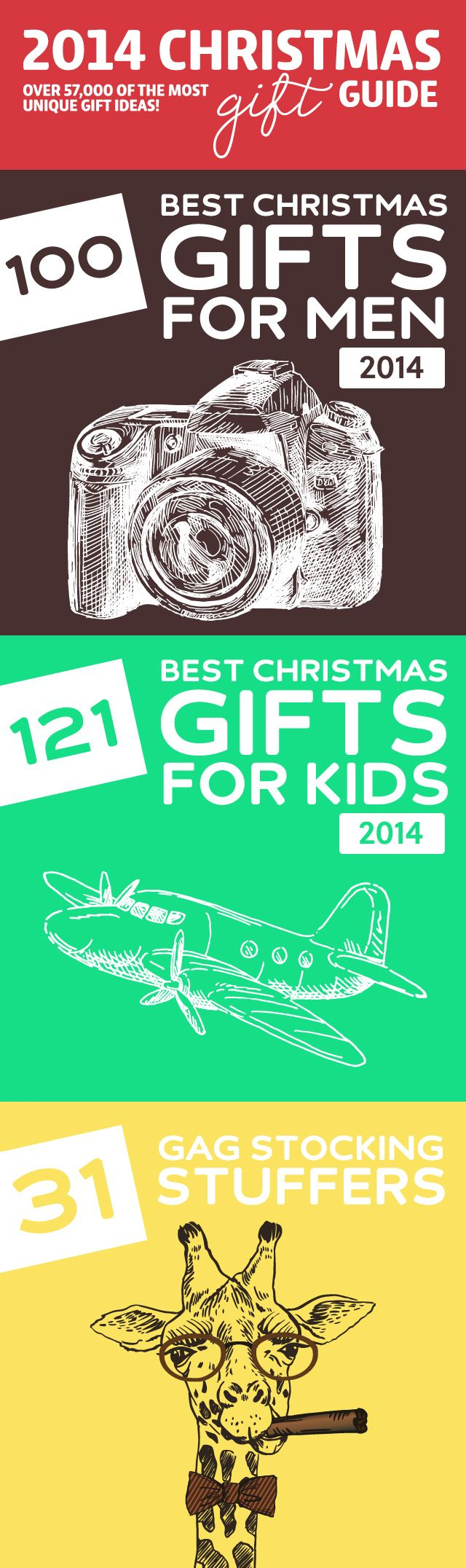 2014 Christmas Gift Guide- over 57,000 of the most unique gift ideas. DON'T do any Christmas shopping before reading this!