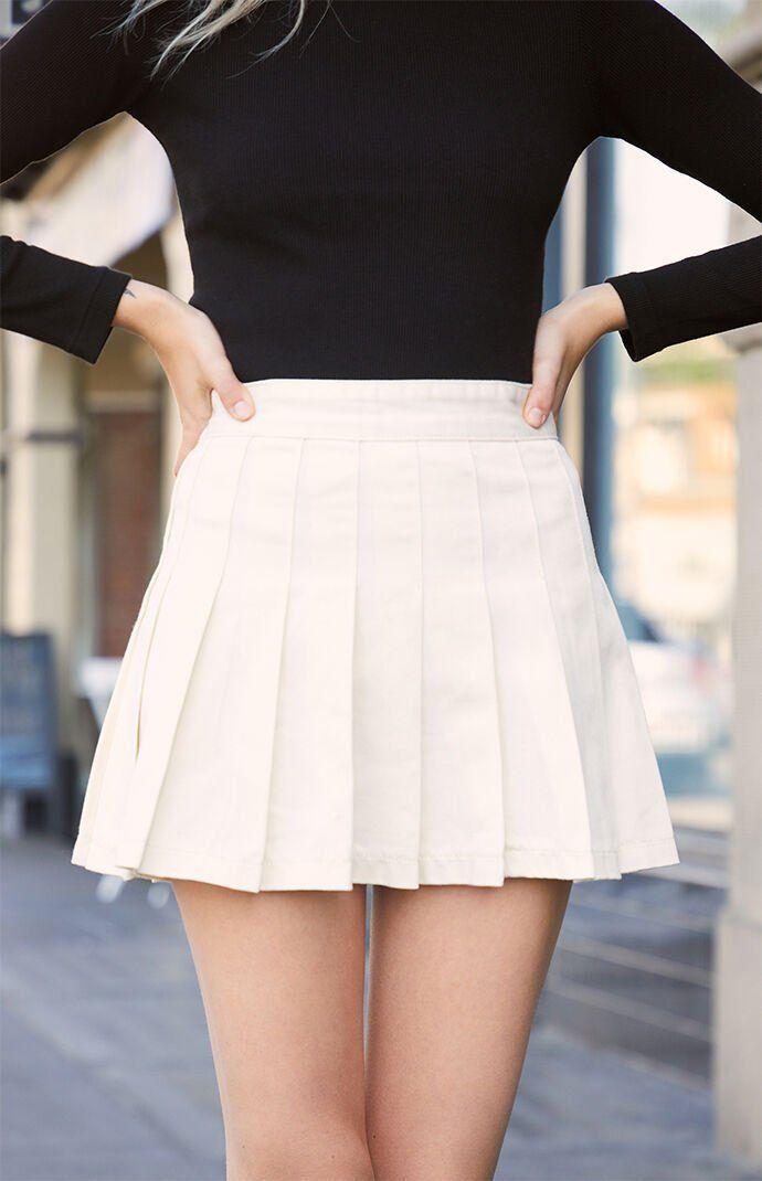 John Galt Pleated Skirt In 2020 Tennis Skirt Outfit White Tennis Skirt Womens Pleated Skirt