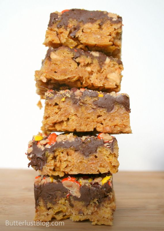 No Bake Chocolate, Peanut Butter & Corn Flake Bars