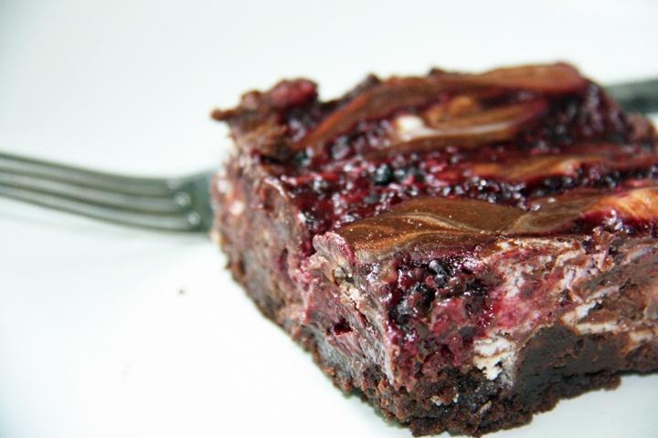 Dark Chocolate Brownies With Raspberry Goat Cheese Swirl Recipe ...