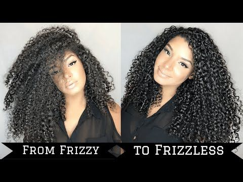 Tame Frizzy Curly Hair Summer Routine - YouTube
