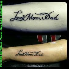 Bilderesultat for mom dad tattoos