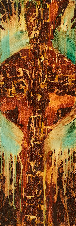 #090604 Cross Canvas Art Print