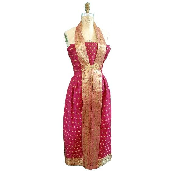 Baju Kurung : 1980s Vintage Sari Silk Cocktail Ensemble by nelsonbridge on Etsy