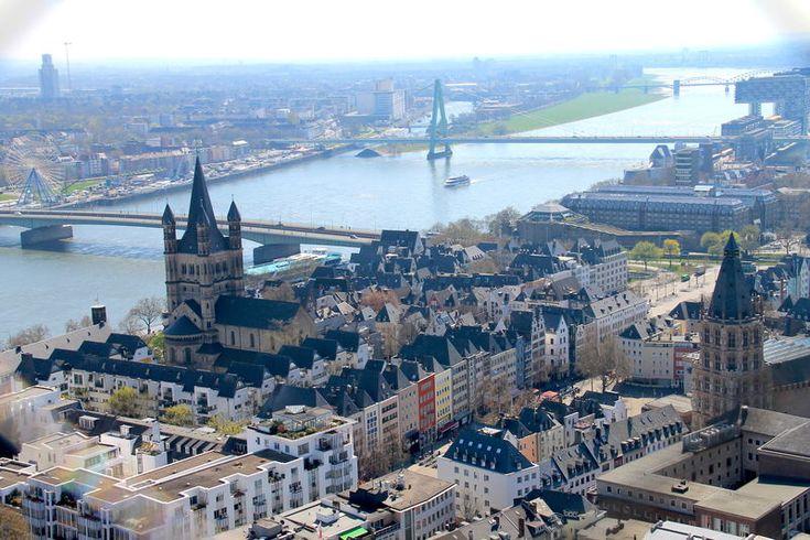 Widok z wieży Katedry w Kolonii