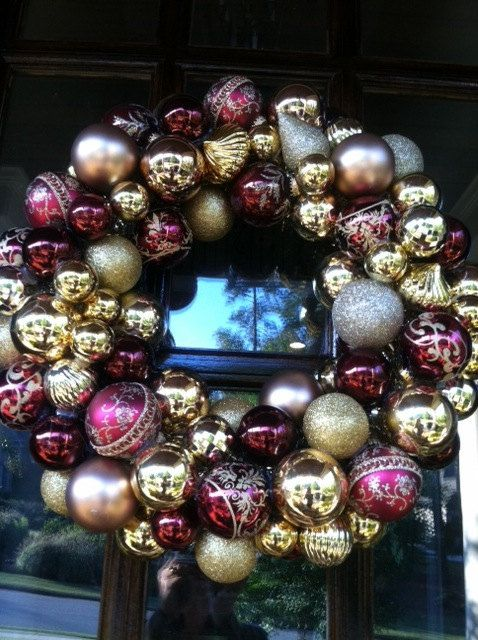 Best burgundy and gold christmas ornaments images on