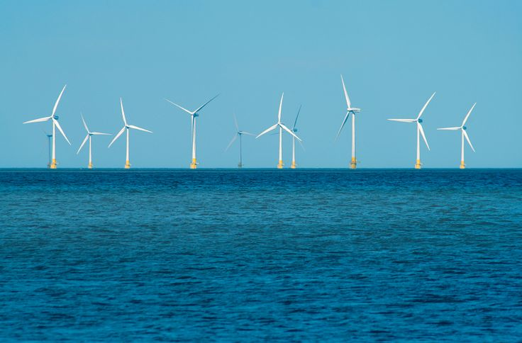 electricity generated from Duddon Sands wind farm offshore from Barrow in Furness