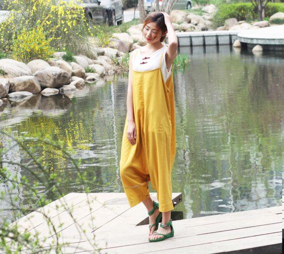 biancheria gialla maxi abito pantaloniun pantalone un di dongli