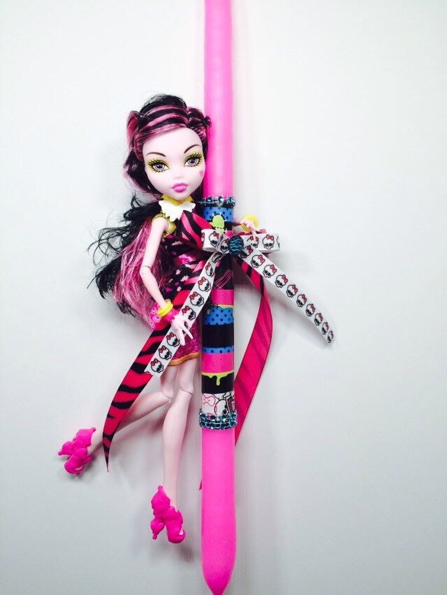 Greek easter candles Draculaura monster high,easter candles,lambada,lambatha by Zoes4life on Etsy https://www.etsy.com/listing/185351021/greek-easter-candles-draculaura-monster