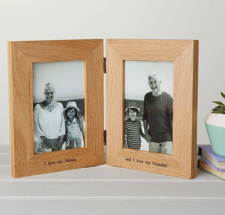 I've just found Personalised Solid Oak Double Photo Frame. A contemporary personalised double photo frame made from solid oak to present a couple of treasured 6 x 4 photos with a loving message.. £33.00
