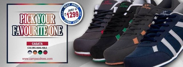 """Stay fit with """"CASATA' #Running Shoes from #Campus Just 1299/- Try Today and Experience the Difference. Buy Now - http://www.campusshoes.com/casata-2038.html"""
