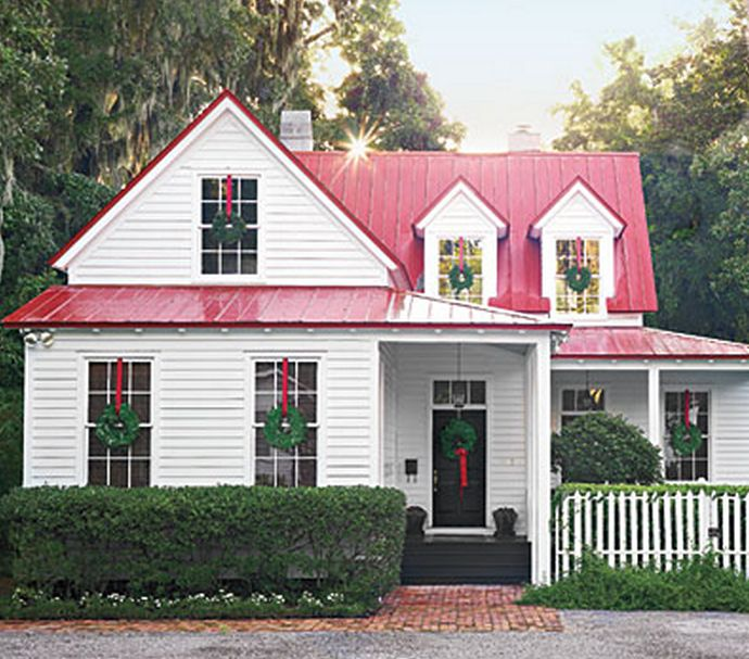 Best 254 Best White House Silver Metal Roof Black Shutters 400 x 300