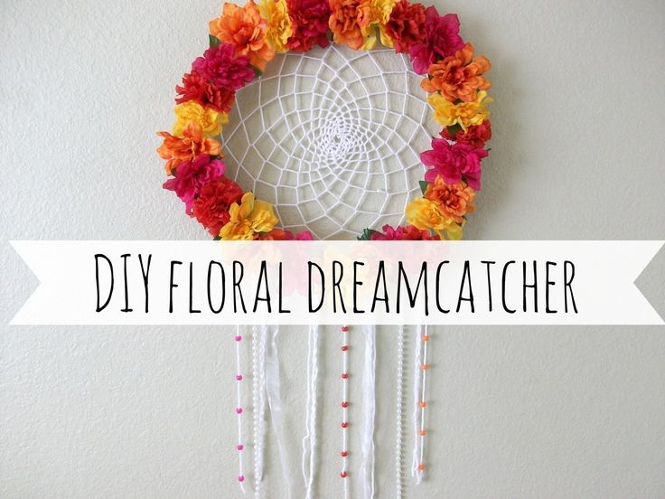 Diy+Floral+Dreamcatcher++•++Free+tutorial+with+pictures+on+how+to+make+a+dream+catcher+in+under+180+minutes