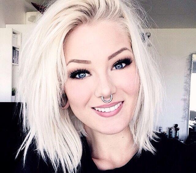 Strange 17 Best Images About White Blonde On Pinterest Bleach Blonde Short Hairstyles Gunalazisus