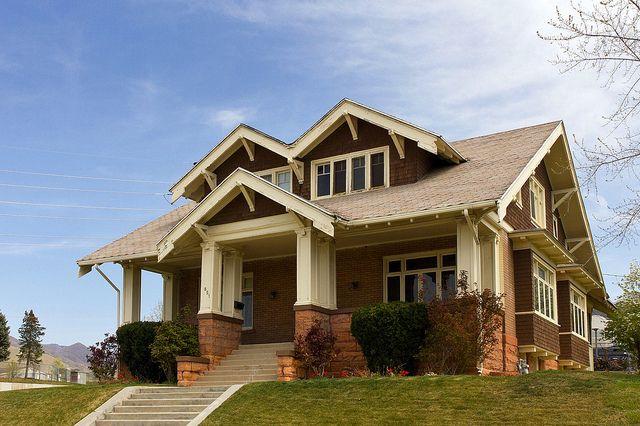 Craftsman bungalow 1913 salt lake city utah arts for House plans utah craftsman