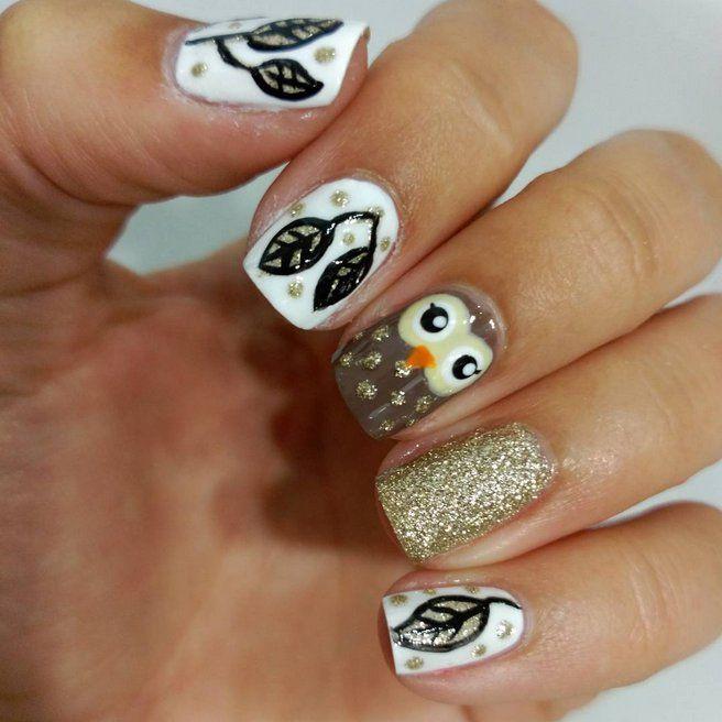 Pin for Later: 21 Idées de Nail Art Automnal Qui Vont Vous Faire Oublier la Plage A Qui Appartiennent Ces Ongles?