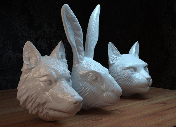 our animal' s masks render