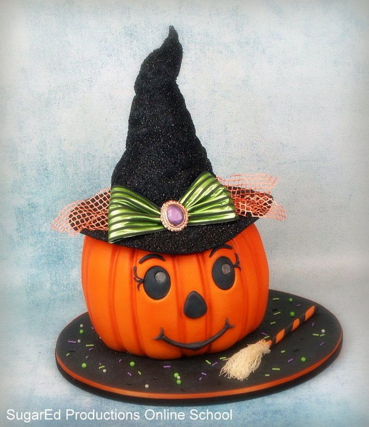 Fondant Cake Halloween Ideas : pretty fondant witches Broomelda - Cake by Sharon ...
