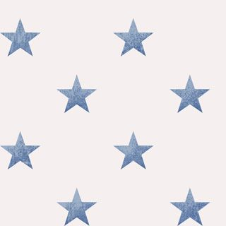 tapeter med blå stjärnor