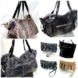 Handbags in leather